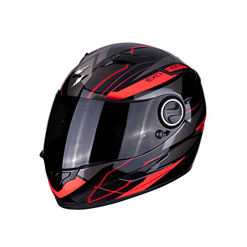 Scorpion 49-285-24-05 Motorrad Helm, Schwarz/Rot, L