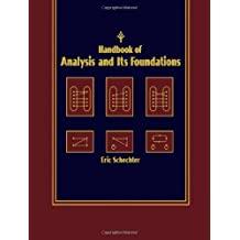 Handbook of Analysis and Its Foundations by Eric Schechter (1996-10-30)
