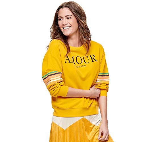 ONLY Damen onlDAISY LS O-Neck SWT Sweatshirt,per Pack Mehrfarbig (Mango Mojito Print:Amour),36 (Herstellergröße:S)