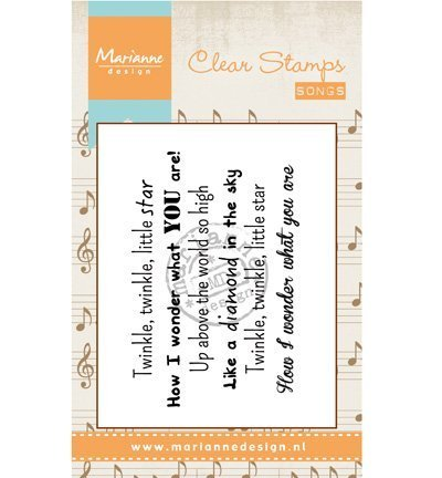 Chansons Marianne - Marianne Design «chanson Tampon transparent Twinkle Little