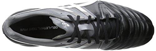 Asics Men's Gel-Lethal Tight 5 Soccer Shoe Black/White/Dark Grey
