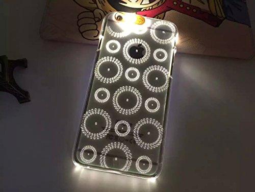 Lumière Clignotante Motif Transparent Coque rigide pour Apple iPhone 5/5S & 6/6S, Australie, Apple iPhone 5/5s CIRCLES1
