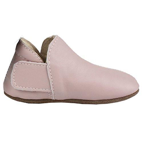 EN FANT Mädchen Adventure Slipper Krabbel-& Hausschuhe, Pink (Rose 10), 18 EU (Baby Walker Schmal)