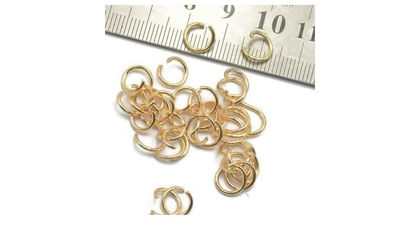 400pc 5mm//6mm//7mm//8mm Metal Open Jump Rings for Jewellery Making Light Gold
