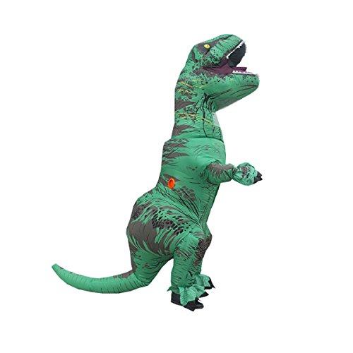 Nihiug Jurassic Tyrannosaurus Rex Aufblasbare Anzug Erwachsene Kinder Lustige Gesellschaft Bar Performance Kostüm Cos Requisiten Halloween Classic (Ihren Halloween Bauen Eigenen Kostüm Sie)