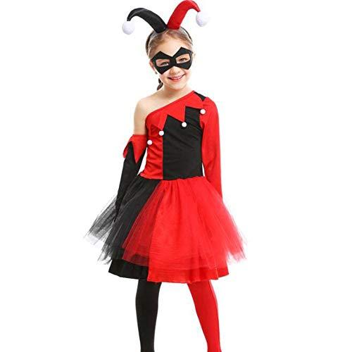 Lustige Kostüm Clowns - QWE Halloween Kostüm Mädchen Cosplay lustige Clown Film Cosplay Tanz Performance Kleidung