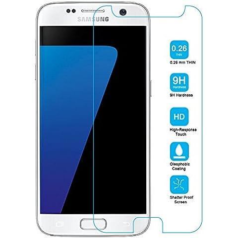 Ambaiyi Cristal Vidrio Templad Premium Protector de Pantalla para Samsung Galaxy S7