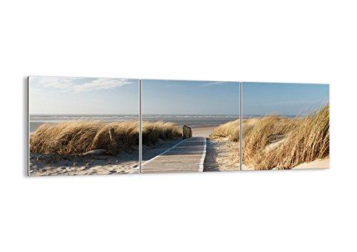 Glas-teil Drei (Bild auf Glas - Glasbilder - DREI Teile - Breite: 150cm, Höhe: 50cm - Bildnummer 2657 - dreiteilig - mehrteilig - zum Aufhängen bereit - Bilder - Kunstdruck - GCA150x50-2657)