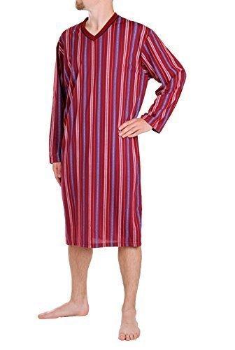 Camicia da notte mr, maniche lunghe, 100% Cotone, L XL XXL XXXL - cotone, Bordeaux, 100% cotone 100% cotone, Uomo, XXXL