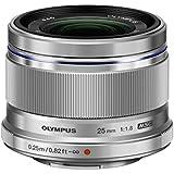 Olympus M.Zuiko Digital 25 mm f:1.8 - Objetivo para micro cuatro tercios (Diámetro de 46 mm), plateado