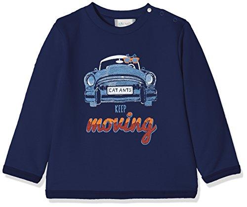 Sanetta Baby-Jungen Sweatshirt 114219, Blau (Moon Blue 5866), 86