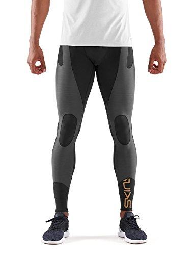 Mens Compression Long Tights (Skins Herren DNAmic Ultimate K-Proprium Mens Long Tights Black/Charcoal XL)