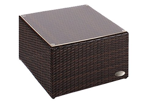 Alu- Beistelltisch inkl. Plexiglasplatte,4 x verstellbare Füße (auch als Hocker nutzbar (90 kg)...