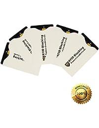 RFID bloqueo seguro sin contacto protección contra robo de crédito tarjeta de débito mangas Protector Case Set inteligente soporte para bolso de mano cartera #1501 design 5 pack