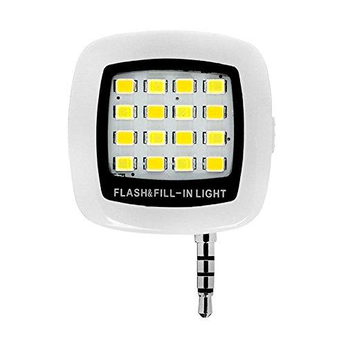 hrph schwarz Mini Tragbar 16Flash LED Fill Light Selfie Nacht Foto Taschenlampe Fill Light Video für Telefon iPhone HTC LG
