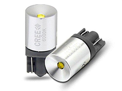 Lampada Led T10 W5W Canbus Pro 12V 3W Chip Cree XBD No Errore Luci Posizione 90ᅵ Bianco