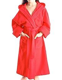 Arus - Albornoz niños con capucha para niñas y niños, 100% algodón tela de toalla de rizo