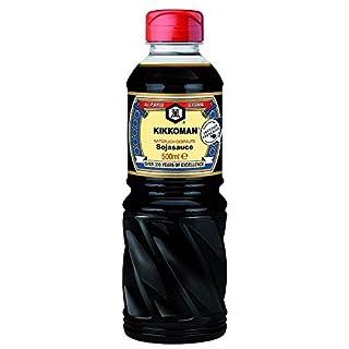 Sojasauce Dunkel, Kikkoman Sojasoße ohne Konservierungsstoffe, Soja-Sauce natürlich gebraut, Shoyu Sauce Soja-Soße für Sushi und Sashimi 500ml