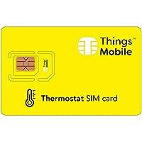 SIM Card per TERMOSTATO Things Mobile con copertura globale e rete multi-operatore GSM/2G/3G/4G LTE, senza costi fissi, senza scadenza e tariffe competitive, con 10 € di credito incluso