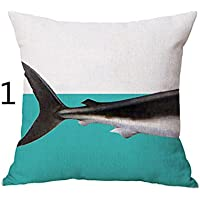 ASAP CHIC Fashion - Funda de Cojín para el hogar, Diseño de Tiburón de Animales
