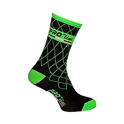 Calze Calzini Ciclismo PROLINE Team Verde Fluo Cycling Socks