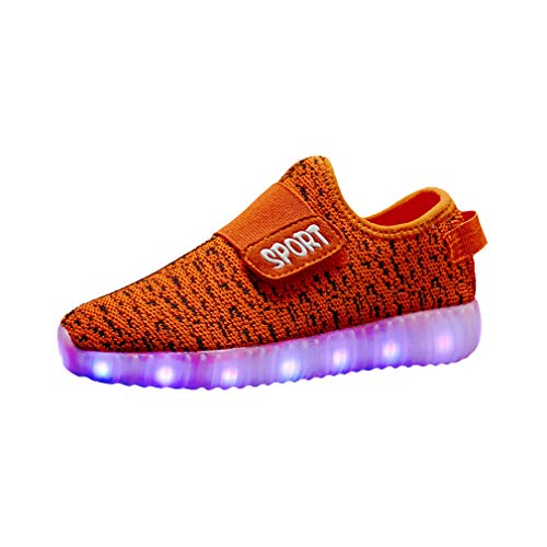Kinder Turnschuhe mit Licht LED Leuchtende, Jungen Mädchen Sport Schuhe Mode Kinderschuhe Weiche Outdoor Lässige Laufschuhe Schuhe Sneaker für Unisex Kinder
