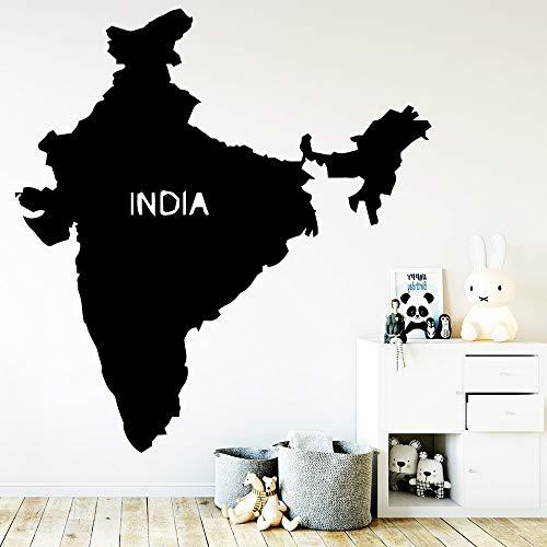 wukongsun Kreative Indien Karte wasserdichte Wandaufkleber Wohnkultur Wohnzimmer Schlafzimmer Wand Hintergrund Kunst Applique 54 cm X 55 cm (Indien Karte Service)