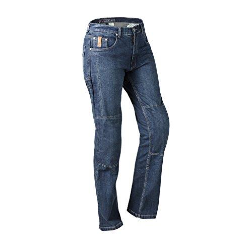 Lookwell Jeans Juni Damen Motorrad Reiten Hose, dunkelblau, Größe 30 -