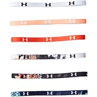 Under Armour, Mini Graphic Hb (6Pk), Fascia, Donna, Bianco (Bianco/Bianco/Nero), Taglia unica