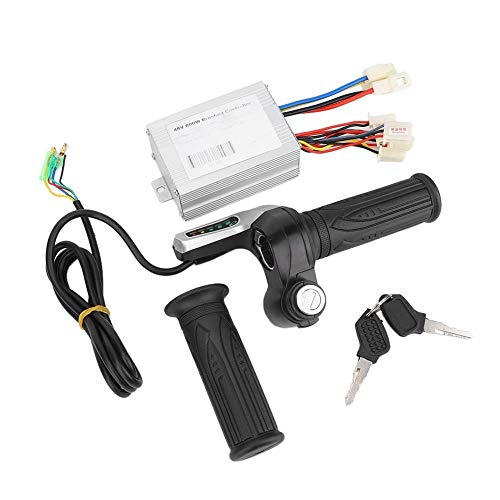 KIMISS Aluminium + ABS 48V 800W Brushed Speed   Controller Kit für Elektroroller mit Gasgriff
