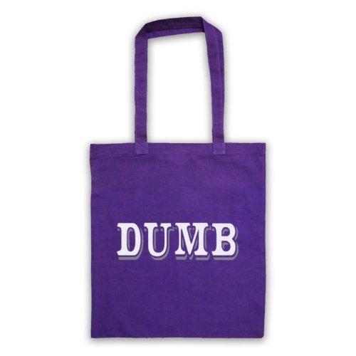 Dumb Funny Slogan Tote Bag Viola