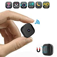 RMXMY HD 1080P Mini Spy Camera Wireless Hidden Camera Small Waterproof WiFi Home Security Cameras Night Vision - IP Nanny Cam Indoors Office Car