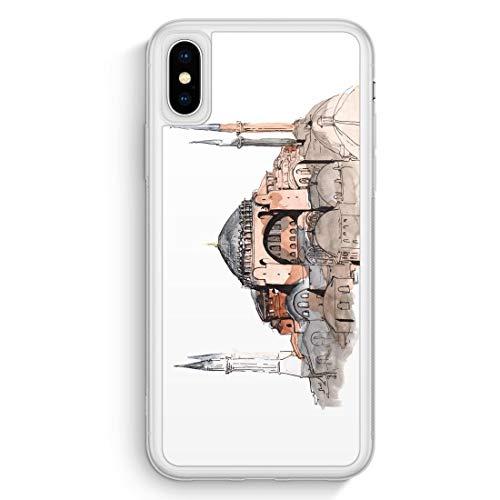 Hagia Sophia Ayasofya Istanbul Türkei - Frosted Silikon Hülle für iPhone XS Max Cover - Motiv Design Türkiye Cami Islam - Handyhülle Schutzhülle Case
