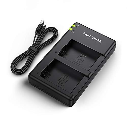 RAVPower NP-FW50 Akku Ladegerät Dual USB Charger für Sony Alpha7 / 7ii / 6500/6400 / 6300/6000 / 5100 NEX-7 NEX-6 NEX-F3 NEX-3 Nex-5 NEX-5N NEX-5T SLT A55V A33 A35 A37 usw. (Dual Akku-ladegerät Sony)