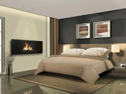 41aGbLvaAbL - Celsi Electric Fire - Panoramic LCD Fireplace, Wall Mounted, 2 Heat Settings