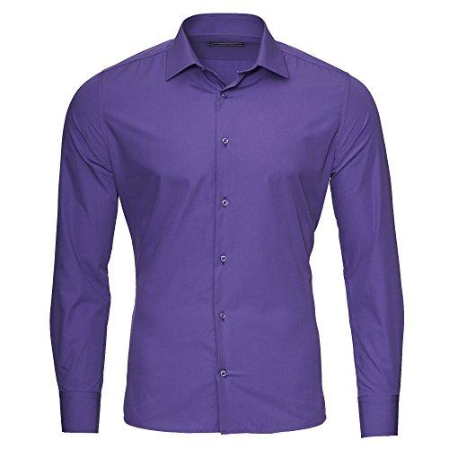 Kickdown -  Camicia classiche  - Uomo Violett