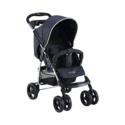 knorr-baby 886510 Sportwagen 'V'-Easy-Fold Happy Colour, schwarz