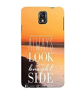 EPICCASE Brighter Life Mobile Back Case Cover For Samsung Galaxy Note 3 (Designer Case)