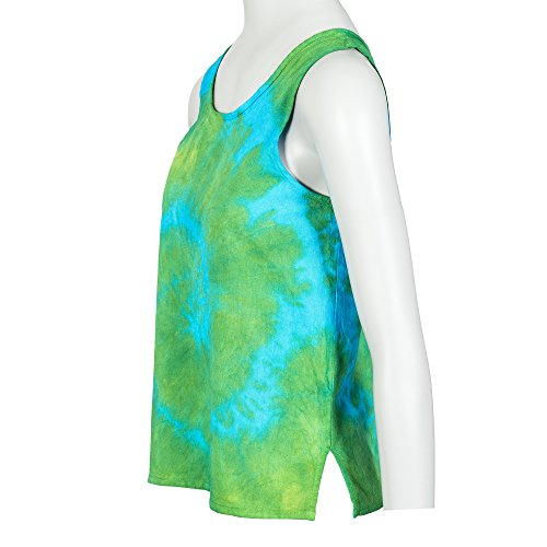 Tumia LAC Damen Top Tie Dye Green/Blue/Yellow