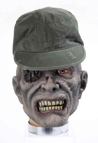 Forum Novelties Halloween Maske Zombie Soldat mit Mütze Zombiemaske (Forum Halloween Novelties)