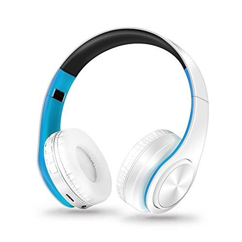 owikar Wireless Bluetooth Kopfhörer faltbar Hand frei über Ohr Noise Cancelling Stereo Wireless Sport Headset Support TF Card Head-mounted Weiche Kopfhörer für PC, Handys und TV (Drahtlose In Ear-monitor-pack)