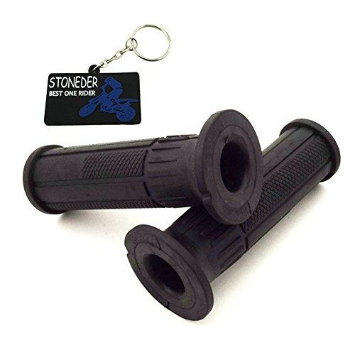 Stoneder 22 mm 7/20,3 cm en caoutchouc Noir ATV Poignée Poignées universel pour 50 cc 70 cc 90 cc 110 cc chinois Quad 4 Wheeler