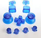 Juju Village Clear Blue PlayStation 3 PS3 Replacement Buttons Controller Thumbsticks Triggers - Dpad & Action Buttons - PS3 Controller Mods