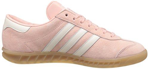 adidas Hamburg, Baskets Basses Femme Rose (Vapour Pink/Off White/Gum)