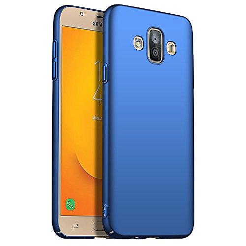 for Samsung Galaxy J7 Duo 2018 Hülle, ZUERCONG [Matte Serie] Ultra Dünn Slim Cover Case Anti-Scratch Shockproof Handytasche Hartplastik Schutzhülle für Samsung Galaxy J7 Duo 2018, Glattes Blau -