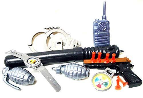 Karneval-Klamotten Polizei Set Kinder Ausstattung Ausrüstung aus Plastik Spielzeug