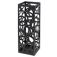 MONTEMAGGI Square Umbrella holder Black weave rims 18x18x55 Cm