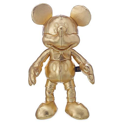 Offizielle Disney 90. Jahrestag Mickey Mouse Gold Sammlung 25 cm Sitzsack Stofftier