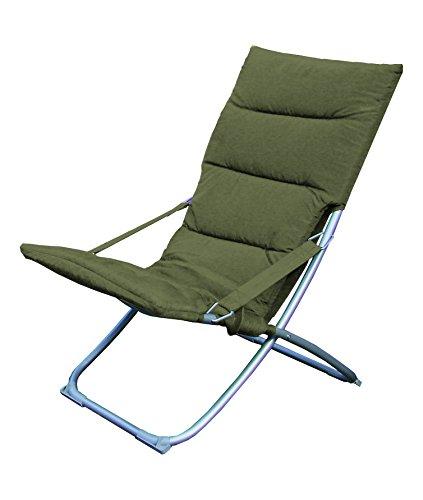 DCB GARDEN R1 Relax Pliable textilène Taupe 50x64x90 cm