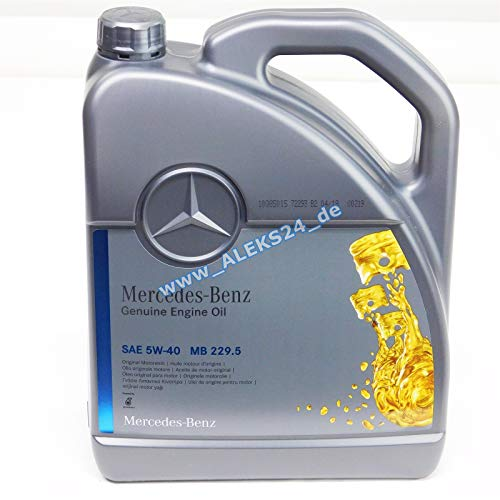 Original Motoren Öl Mercedes Benz 229.5, 5W40 5 liter